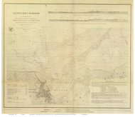 Nantucket Harbor, 1848 - Old Map Reprint - USA Regional 1854 Coast Survey