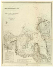 Oyster or Syosset Bay, 1847 - Old Map Reprint - USA Regional 1854 Coast Survey