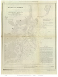 Little Egg Harbor, 1846 - Old Map Reprint - USA Regional 1854 Coast Survey