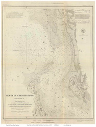 Chester River Mouth, 1849 - Old Map Reprint - USA Regional 1854 Coast Survey