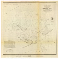 Ocracoke Inlet, 1852 - Old Map Reprint - USA Regional 1854 Coast Survey
