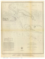 Beaufort Harbor, 1851 - Old Map Reprint - USA Regional 1854 Coast Survey