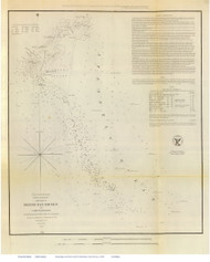 Frying Pan Shoals, 1851 - Old Map Reprint - USA Regional 1854 Coast Survey
