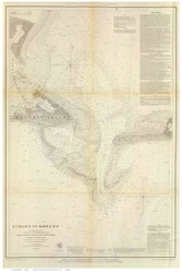Entrance to Mobile Bay, 1851 - Old Map Reprint - USA Regional 1854 Coast Survey