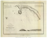 Trinidad Bay, 1851 - Old Map Reprint - USA Regional 1854 Coast Survey