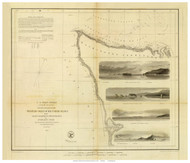 West Coast from Gray's Harbor to Admiralty Inlet, 1853 - Old Map Reprint - USA Regional 1854 Coast Survey