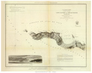 Cape Flattery and Nee-ah Harbor, 1853 - Old Map Reprint - USA Regional 1854 Coast Survey