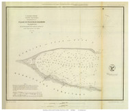 False Dungeness Harbor, 1853 - Old Map Reprint - USA Regional 1854 Coast Survey