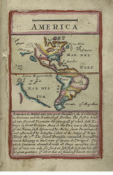 North and South America 1677 Old Map Reprint - Seller