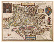 Chesapeake Bay 1630 - Hondius (Ggus) - Old Map Reprint
