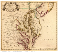 Chesapeake Bay 1719 - Senex - Old Map Reprint