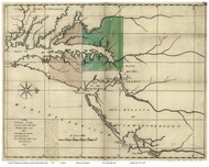 Chesapeake Bay 1732 - Senex - Old Map Reprint