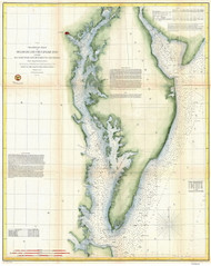 Chesapeake Bay 1855 - Preliminary Chart (Ggus) - Old Map Reprint