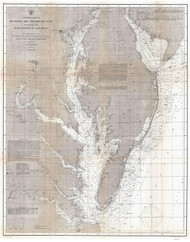 Chesapeake Bay 1866 - Nautical Chart (Ggus) - Old Map Reprint