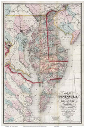 Chesapeake Bay 1879 - MacCormac - Old Map Reprint