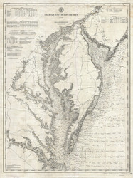 Chesapeake Bay 1893 - Nautical Chart (Ggus) - Old Map Reprint