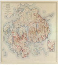 Acadia National Park, Maine Old Map Reprint 1942 - Cities Other