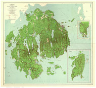 Acadia National Park, Maine Old Map Reprint 1956 - Cities Other