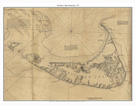 Map of Nantucket 1776 Des Barres - Old Map Custom Print
