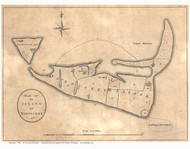 Map of the Island of Nantucket 1782  de Crevecour & Hector - Old Map Reprint