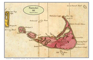 Nantucket 1801 Osgood Carleton - Old Map Custom Print