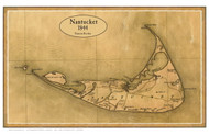 Nantucket 1844 Simeon Borden - Old Map Custom Print