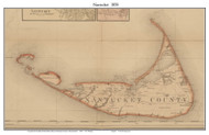 Nantucket 1858 H.F. Walling - Old Map Custom Print