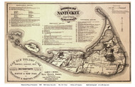 Historical Map of Nantucket 1869 Old Colony Line Rev. R.C. Ewer - Old Map Reprint