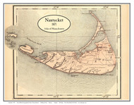 Nantucket 1871 Walling & Gray - Old Map Custom Print