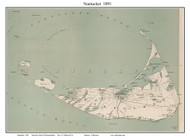 Nantucket 1891 Geo. H. Walker & Co. - Old Map Custom Print