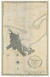 Nantucket Harbor 1826 Anderson - Old Map Reprint