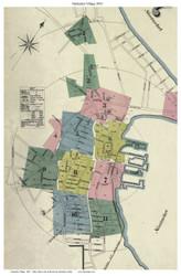 Nantucket Village - Fire Insurance Map 1892 Sanborn Map Co - Old Map Custom Print