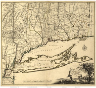 Long Island 1780 - Covens - Old Map Reprint