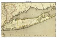 Long Island 1802 - DeWitt - Old Map Custom Print