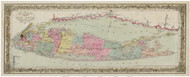 Long Island 1857 - Colton - Old Map Reprint