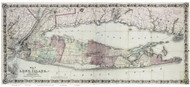 Long Island 1870 - Colton - Old Map Reprint