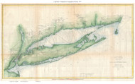 Long Island - Triangulation 1873 - USCGS - Old Map Reprint