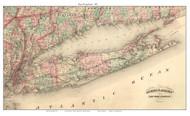 Long Island 1875 - Asher & Adams - Old Map Custom Print