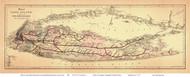 Long Island Railroad Map 1882 - Colton - Old Map Reprint