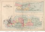 Long Island 1891 - Wolverton - Old Map Reprint
