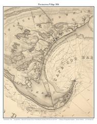 Provincetown Village, 1836 - Old Map Custom Print