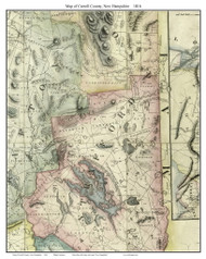 Carroll County New Hampshire 1816 - Old Map Custom Print - Carrigain
