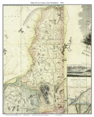 Coos County New Hampshire 1816 - Old Map Custom Print - Carrigain
