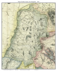 Grafton County New Hampshire 1816 - Old Map Custom Print - Carrigain