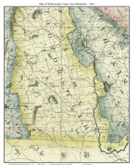 Hillsborough County New Hampshire 1816 - Old Map Custom Print - Carrigain