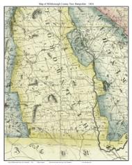 Hillsborough County New Hampshire 1816 - Old Map Custom Print - Carrigain