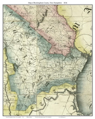 Rockingham County New Hampshire 1816 - Old Map Custom Print - Carrigain