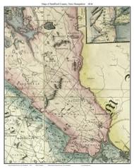 Strafford County New Hampshire 1816 - Old Map Custom Print - Carrigain