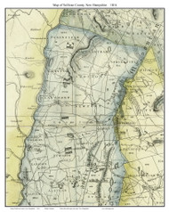 Sullivan County New Hampshire 1816 - Old Map Custom Print - Carrigain