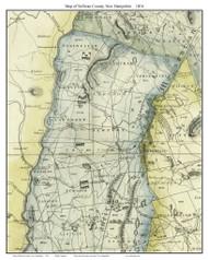 Sullivan County New Hampshire 1816 - Old Map Custom Print - Carrigain